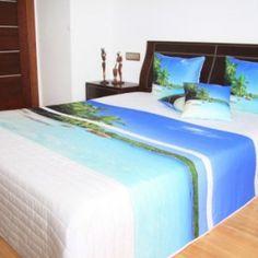 Prehozy s farebnou potlačou Bed, Furniture, Home Decor, Decoration Home, Stream Bed, Room Decor, Home Furnishings, Beds, Home Interior Design