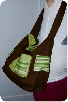 * Customizable Bag Pattern With Instructions *  -  Use this diaper bag pattern to sew your own perfect bag! Use fabrics you love and add as many or as few pockets to create your own ultimate carry-all. These basic instructions will help guide you in creating a very sturdy and cute bag. Increase or decrease dimensions to find the size that suits you.