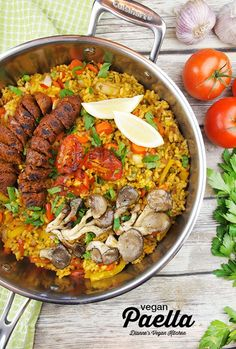 Vegan Paella from the Field Roast Cookbook >> Dianne's Vegan Kitchen