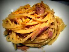 Spaghetti con Tonno, Limone e Zenzero