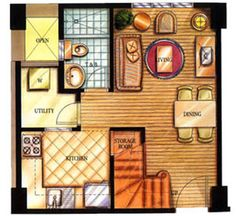 1 Kitchen Floor Plans