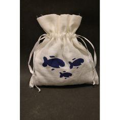 Sachet de lavande personnalisé à partir du pochoir double Plage de chez http://www.adeuxmains.fr