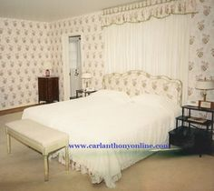 The Kennedy's bedroom at their weekend home in Atoka, Virginia