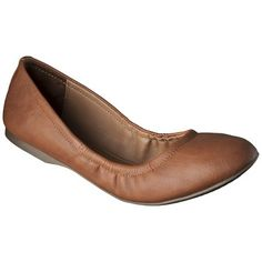 Women's Mossimo Supply Co. Ona Scrunch Ballet Flat - 3 pairs cute flats - one brown, one black, one random color. Work appropriate, but comfortable.
