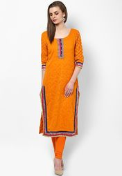 Sangria Cotton Orange Kurti Online Shopping Store