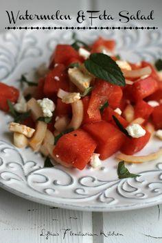 Watermelon and Feta Salad - Lydia's Flexitarian Kitchen