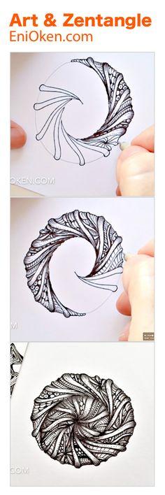 Create exquisitely detailed Zentangle®️ • enioken.com