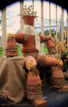 The flower pot man...going to have to remember this for the fall. :)