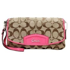 8.Coach Signature Large Flap Wristlet Preloved. Starting at $10