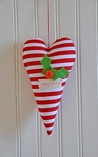 So cute. Love red and white, and it's a heart!