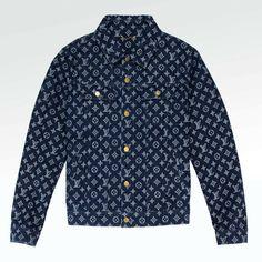 100% Authentic Louis Vuitton Monogram Denim Jacket Blue RARE Louis Vuitton Jeans, Louis Vuitton Monogram, Hugo Boss Orange, Denim Jumper, Expensive Clothes, Denim Branding, Raw Denim, Authentic Louis Vuitton, Cool Outfits