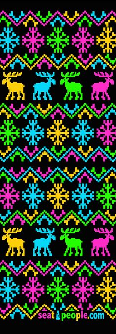 Neon Christmas Sweater Car Seat Cover