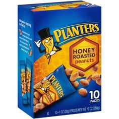 Wholesome Snacking on the Go! Each individual pack contains perfectly roasted delicious Planters Peanuts. This is one snack that is ready to go whenever and wherever you go! Low Fat Cookies, Fig Cookies, Honey Roasted Peanuts, Veggie Snacks, Healthy Snacks, Fruit Parfait, Parfait Recipes, Cookie Packaging, 10 Count