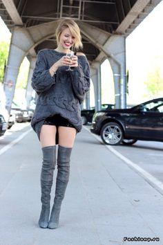 newest c88f2 3511d Sweater Botas Xl, Botas De Moda, Vestido Con Botas, Botas Hasta Las Rodillas