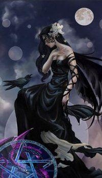 Fairy/Raven, Dark Skies by Nene Thomas Fairies Photos, Arte Obscura, Dark Angels, Fairy Pictures, Gothic Fairy, Beautiful Fairies, Beautiful Witch, Dark Skies, Fairy Art