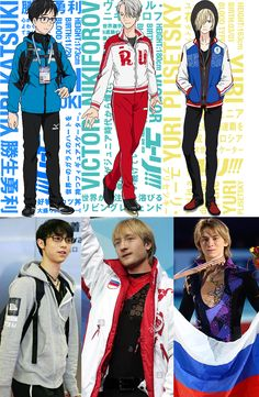 Yuri!!! on Ice possible real references/inspirations…? Pure speculation. Yūri Katsuki - Yuzuru Hanyū Victor Nikiforov - Evgenij Plushenko Yuri Plisetsky - Artur Gachinski