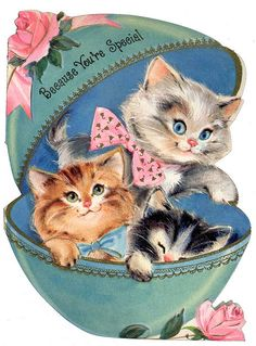 Vintage Kitty card.