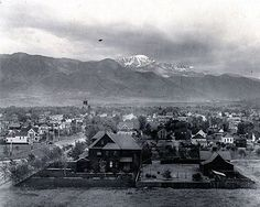View of Colorado Springs in 1901