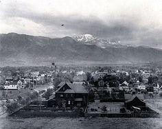 View of Colorado Springs in 1901, Colorado