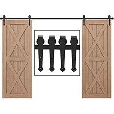 Femor 6FT 183cm Sliding Door Hardware Sliding Door Accessory Kit Metal Parts Set Sliding Door Track 183 * 4 * 0.6cm: Amazon.co.uk: DIY & Tools Wooden Sliding Doors, Sliding Door Track, Sliding Door Hardware, Cupboard Doors Makeover, Door Makeover, Woodworking Projects Diy, Diy Projects, Door Fittings, Door Molding