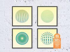Geometric Print Set Poster Set Art Circle Ball by AllArtPrints