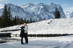 Wedding photographer Switzerland   engagement on alps
