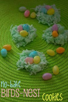 No-Bake Birds-Nest Cookies! Perfect for Easter :)