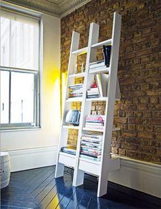 estantes con escalera