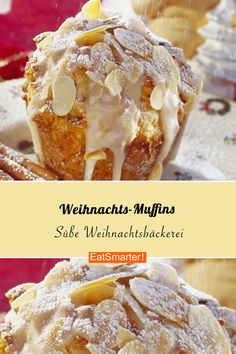 Christmas muffin with speculoos - Mhhh, how delicious! Perfect as a Christmas dessert: Christmas muffins with almonds. Christmas Cupcakes, Christmas Desserts, Christmas Baking, Christmas Recipes, Donut Recipes, Baking Recipes, Dessert Recipes, Dessert Blog, Cupcake Recipes