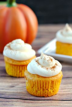 Tweet Pin It I just keep saying it, but I will say it again! Fall means baking! And for a lot of you I know that Fall baking means pumpkin. These Vanilla Pumpkin Spice Cupcakes are a very subtle pumpkin-y flavor that is perfect for just about anyone, no matter how big of a pumpkin...Read More »