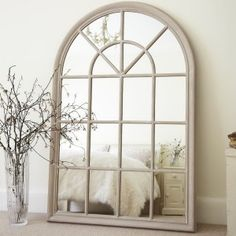 Arched Window Pane Mirror | Home Design Ideas
