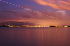 Leman Lake by night by Vincent Charvet on 500px