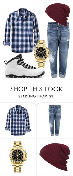 """""""young and fly"""" by superdope101 ❤ liked on Polyvore featuring Banana Republic, Dsquared2, Rolex, men's fashion and menswear"""
