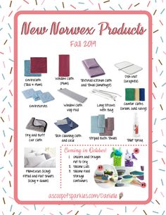 The NEW Norwex Products for 2019 are now available and I'm so excited to share them with you!  New Norwex Products, Fall 2019 Norwex, New Fall Norwex Products, New Norwex Launch,