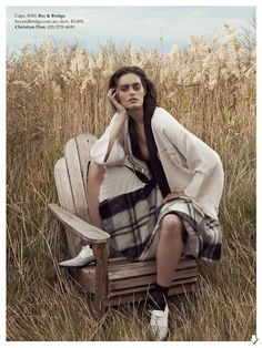 The Elle Australia Coming Undone Photoshoot is Cowboy-Themed #fashion trendhunter.com