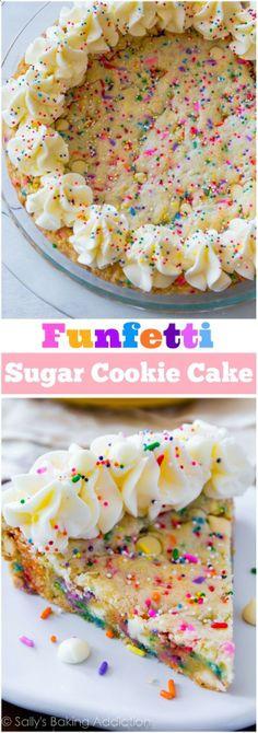 Funfetti Sugar Cookie Cake. - Sallys Baking Addiction