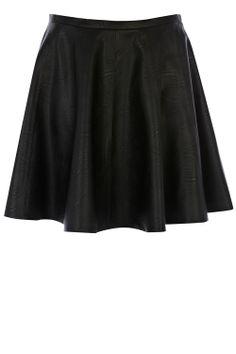 Faux Leather Full Skirt