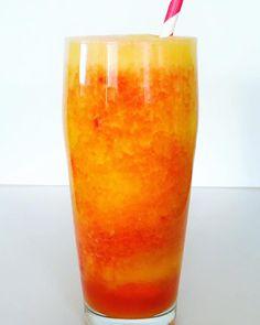 BERRY ORANGE SUNRISE Refreshing & Tangy! Real fruit, full nourishment! Orange Recipes, Orange Peel, Made Goods, Coconut Water, Pillar Candles, Whole Food Recipes, Smoothies, Raspberry, Sunrise