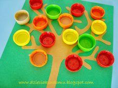jesienne drzewa Lego Boards, Autumn Crafts, Diy And Crafts, Treats, Halloween, Children, 1st Grades, Activities, Therapy