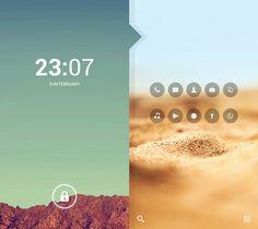 Afar Setup. FFra. Deviantart. Homescreen. Lockscreen. Android. Clean. Fresh. Modern. Minimal. Earth. Desert. Nature. Clock. Icons. Flat. Transparent. UI UX. Custom. Apps. Modification.