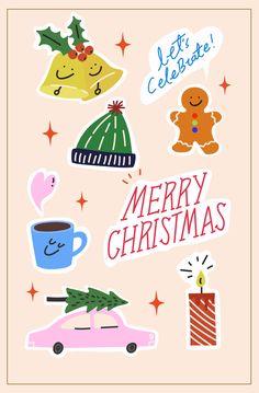 귀여움 레터링 머그잔 문자 사람없음 스티커 아이콘 열매 영어 일러스트 자동차 종 즐거움 진저브레드쿠키 촛불 축하 캘리그래피 크리스마스 크리스마스트리 털모자 팬시 하트 cute letter mug celebrate hat christmas winter season cookie bell tree candle mood 이미지 디자인 이미지투데이 통로이미지 #imagetoday #tongroimage Christmas Stickers, Christmas Art, Christmas And New Year, Birthday Girl Quotes, Art Folder, Christmas Illustration, Christmas Aesthetic, Printable Stickers, Xmas Cards