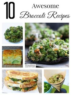 Looking for broccoli recipes? Check out these 10 broccoli recipes including broccoli casserole and kid-friendly broccoli recipes as well!