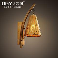 Pas cher Rétro Chinois Mur Lampe Antique Sculpture Sur Bois ...