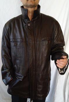 #twitter#tumbrl#instagram#avito#ebay#yandex#facebook #whatsapp#google#fashion#icq#skype#dailymail#avito.ru#nytimes #i_love_ny     CHANTI LEATHER Brown mens  coat &jackets  4XL lining warm zipper #CHANTI #BasicJacket