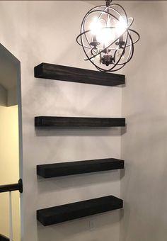 Floating Shelves With Lights, Floating Shelf With Drawer, Floating Shelves Bedroom, Reclaimed Wood Floating Shelves, Floating Shelves Kitchen, Rustic Floating Shelves, Glass Shelves, Shelves Around Tv, Picture Shelves