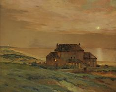 Moonlight by the Sea, Jean Charles Cazin