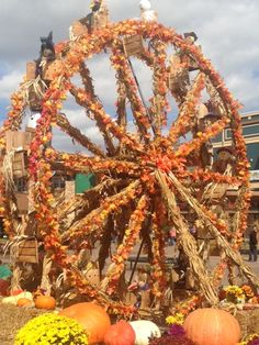 Fall wheel at the Halloween event at The Island in Pigeon Forge