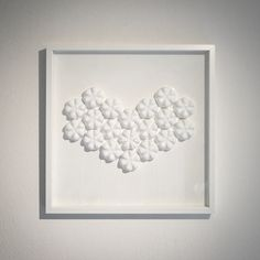 ECOHEART is back! My Lovely Artwork realized with Recycled Plastics - Pure White Laquered Panel 52x52 cm. Perfect in every house, its  neutral and soft style combines with every kind of interior design. Ecoheart gives to your home a touch of sophisticated romance. 540 chf - 500 €  Orders : elisa@5stelle.ch #art #design #interiordesign #interiors #decoration #architecture #ecoheart #elisaberger #elisabergerdesign #lugano #milano #painting #artwork #creativity #white #whiteart #whiteheart…