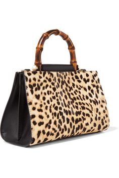 Gucci | Nymphaea mini leopard-print calf hair and leather tote | NET-A-PORTER.COM