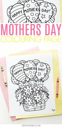 This Mothers Day coloring page is super pretty and it's totally free for you to download and print! Perfect for kids to give as a Mothers Day gift or use it to make a simple Mothers Day card. #mothersday #coloring